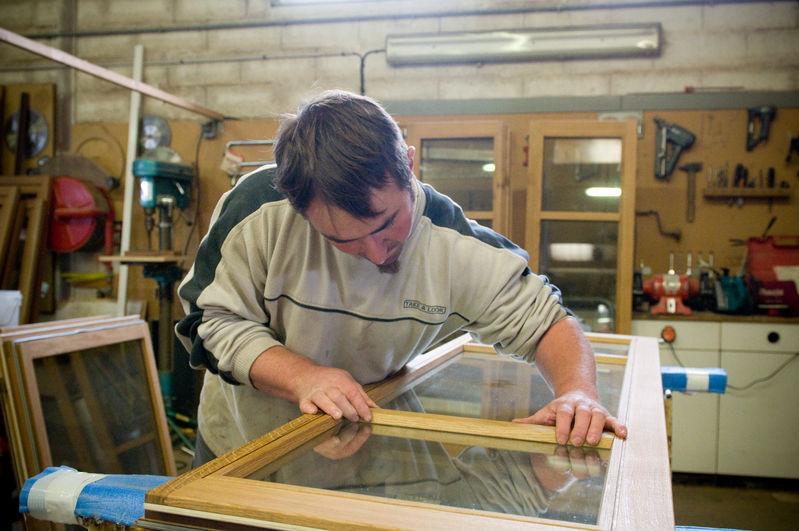 Travail à l'atelier bois