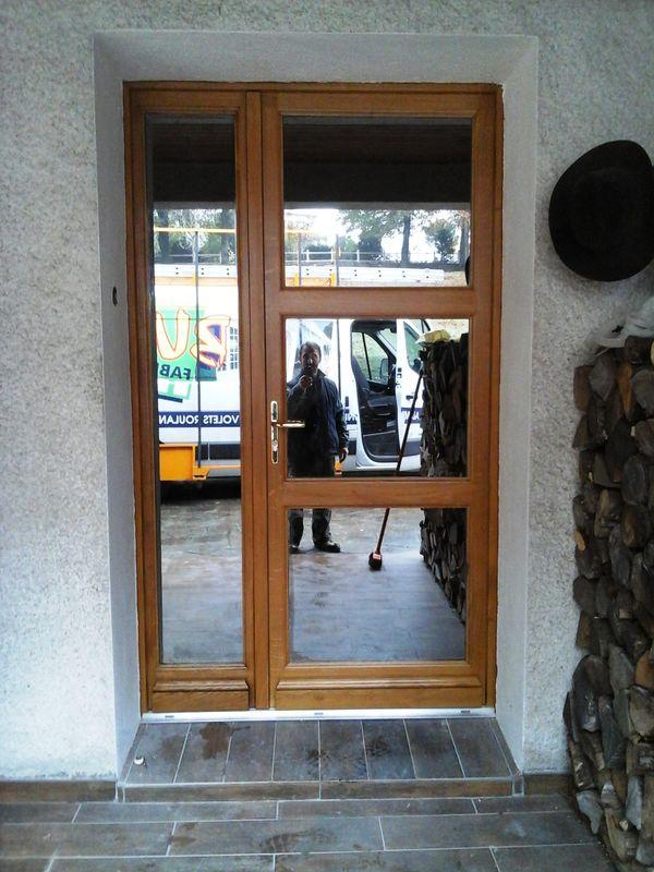 Porte d'entrée en chêne vitrage antélio